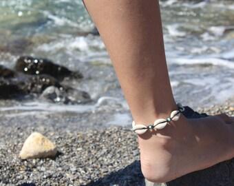 Anklet Bracelet Cowrie Shells Choose Your Colours Handmade