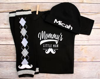 Baby Boy Clothes, Baby Boy Outfit, Baby Boy Take Home Outfit, Mommy's Little Man Shirt, Newborn Boy Clothes, Baby Boy Shower Gift