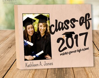 Graduation gift frame - personalized graduation day photo frame GPF