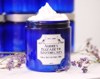 Lavender Vanilla lotion - Shea Butter Body Whip - Natural skincare Whipped Body Butter - mothers day gift for her -  moisturizer coconut oil