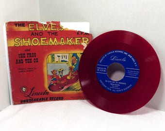 Marion Rosette The Elves And The Shoemaker vinyl record 1949 Lincoln Records, The Frog and the Ox
