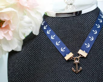 Silver and Gold Anchor Chokers