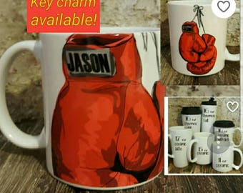 Personalized Mug for boxer, Unique gift for boxer, personalized boxing mug