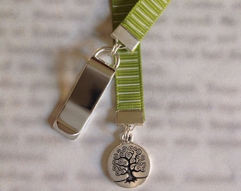 Tree of Life bookmark / Family Tree Bookmark/ - Attach to book cover then mark the page with the ribbon. Never lose your bookmark!