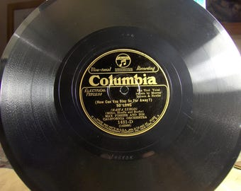 Max Fisher California Orch / Eddie Thomas' Collegians on Columbia 1431-D