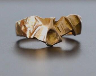 David Rice Gold Ring. 14K