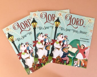 """Book/Children's Book/""""Lord, We Sing Your Praise""""/Vintage Style Book/Months of the Year"""