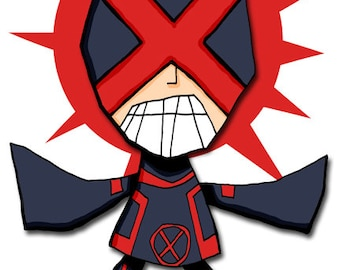 Cyclops Art Illustration Super Hero Xmen Print