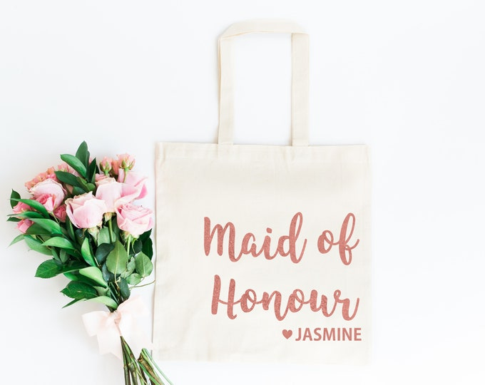 Featured listing image: Maid of Honour Bag | Maid of Honour Tote Bag | Bridesmaid Gift Bag | Personalised Hen Party Gift Bag | Bridesmaid Gift | Maid of Honour Gift