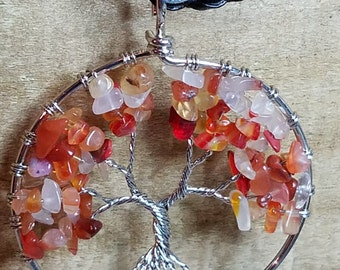 Tree of Life for Fall. Wire wrapped anti tarnish with Citrine semi precious stones.
