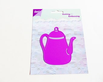 die cutting and embossing teapot coffee pot coffee tea stencil and embossing die cutting