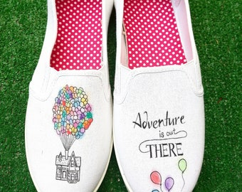 Disney Pixar Up Adventure is out there Themed Wedding Shoes