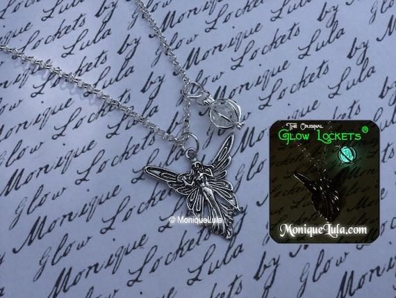 Faerie Wisp Glow Locket Orb Pendant Necklace