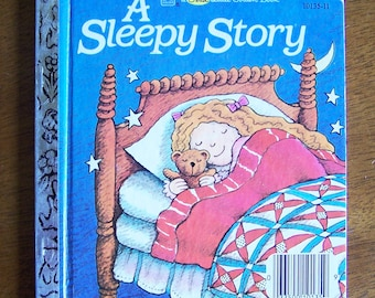 A Sleepy Story by Elisabeth Burrowes -  First Little Golden Book - Children's Book - Bedtime, Bedtime Story