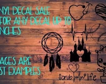 Vinyl decal sale