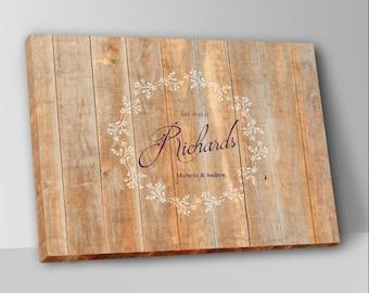 Rustic Wooden Wedding Guest Book Alternative Guest Book Wedding Guestbook Custom Wood Guest Book Canvas Wedding Guestbook