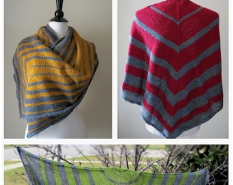 Graduating Stripes eBook of 3 Knitted Shawl Patterns .pdf