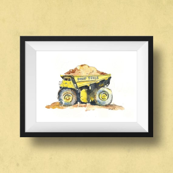 Yellow Dump Truck Print Construction Trucks Dump Truck