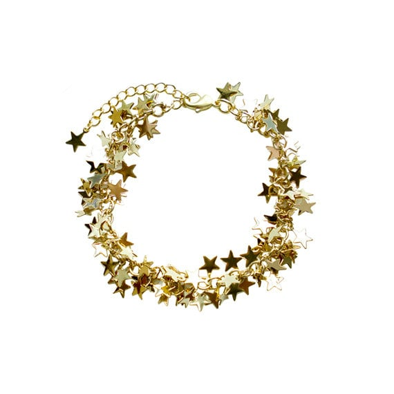 Charm Chain Bracelet - Gold Star