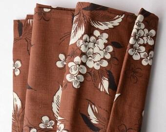 Fabulous Vintage 1930s - 40s Cotton Dress Fabric Brown- 315-B19