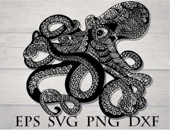 Download Octopus zentangle svg file / animal mandala svg / mandala ...
