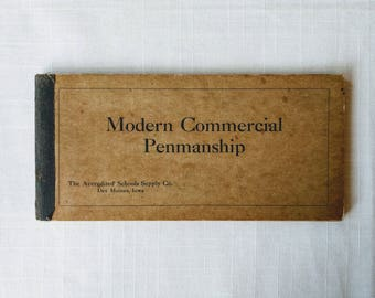 Modern Commercial Penmanship, A Textbook and Book of Models for Commercial Schools-Cursive-Handwriting Manual