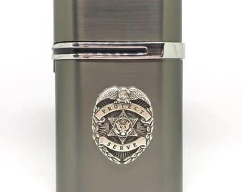 Law Enforcement Desktop Lighter – Silver