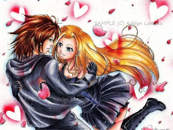 Custom Anime Couple Marker Drawing Customized Art Portrait Manga Caricature Copic