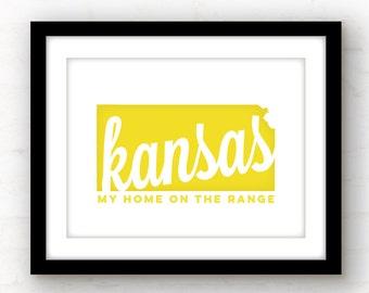 Home on the Range | Kansas state art | Kansas art | Wichita, Kansas | Lawrence, Kansas | Topeka, Kansas | state song lyric art | Kansas art