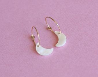 Moon earrings / moon earrings