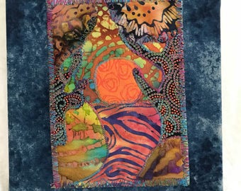 Sacred Earth fabric art painting