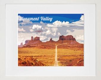 Monument Valley Poster Travel Art Print Home Decor (ZB18)