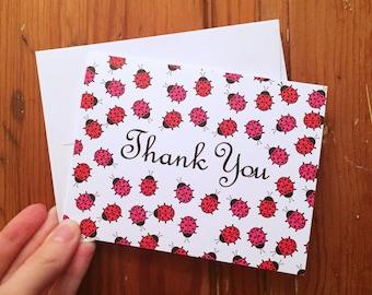 Ladybug Thank You Card Set (10 Cards)