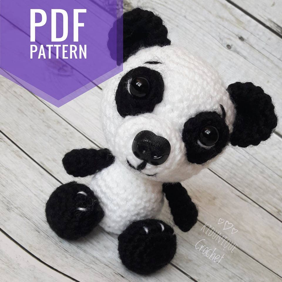 Crochet panda toy PATTERN - PDF crochet toy pattern - Panda ...