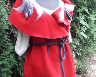 womens sleeveless felted west, spring coat,