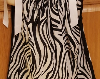 Zebra print,Bandanna dress, summer