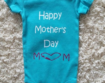 Happy mothers day bodysuit/onsie/mothers day/first mothers day/gift/girl/baby girl