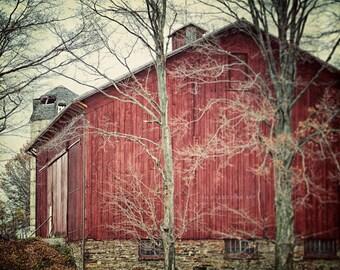 Red Barn Print or Canvas Art | Rustic Home Decor | Red Country Decor | Barn Print | Rustic Red Print | Red Barn Decor | Farmhouse Chic.