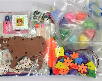 8 Activities Busy Bag For Toddler - Set F