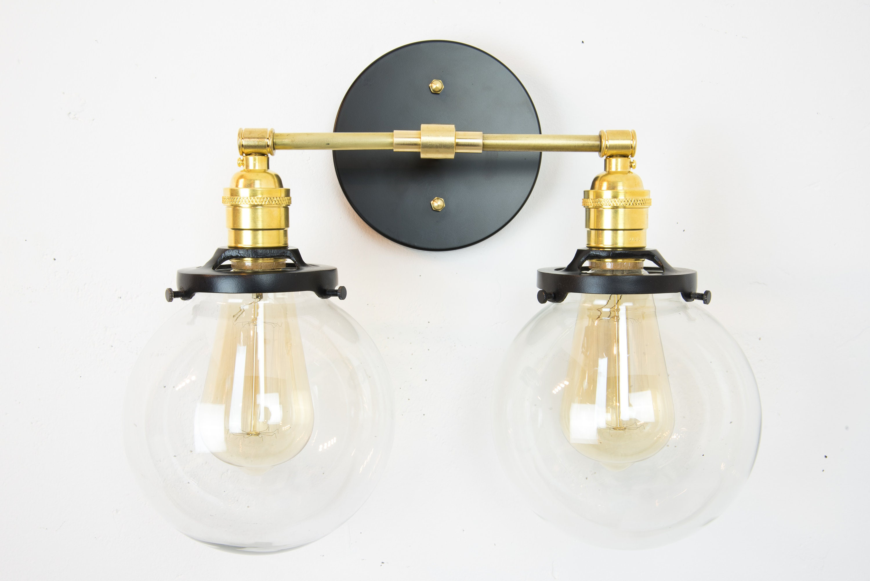 Bathroom Lights | Vanity Lights | Bathroom Light Fixtures | Wall Lamp |  Wall Sconces | Modern Lights | Globe Sconces | Brass Lights | Black