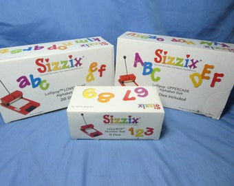 Sizzix Complete Lollipop Alphabet Die Cutters, Upper and Lower Case, plus Numbers, 61 dies!