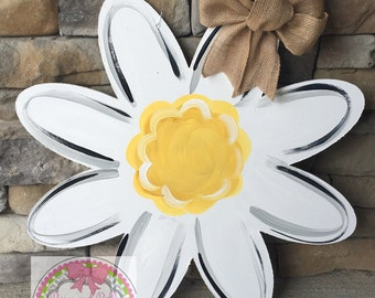 summer door hanger, summer wreath, summer door sign, flower door hanger, watering bin flower, mason jar door hanger