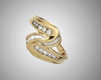 14k diamond ring with 23 diamonds size 6