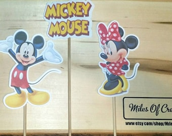 Mickey Mouse Inspired Centerpiece Character on a Stick