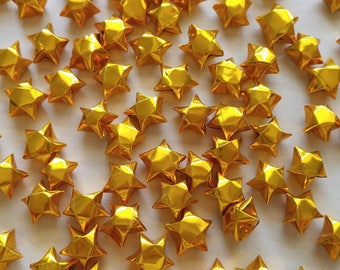 Gold Metallic Origami Stars