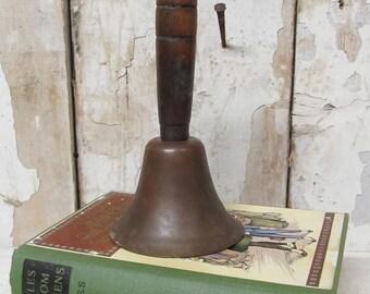 Vintage School Bell, Brass Bell