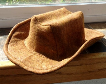 Baby Felt Cowboy Hat | Newborn | Infant | Toddler Sizes Available | PICK YOUR COLOR