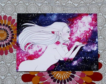 Goddess of the universe postcard