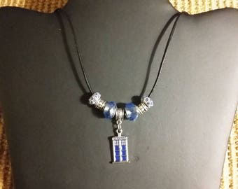 Dr. Who Inspired Police Box Necklace