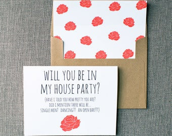 Will you be in my House Party | Card for Bridesmaid | Cute Ways To Ask Bridal Party | Card for Wedding Party | How To Ask Your Bridesmaids
